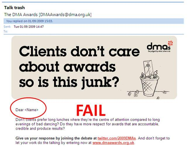 DMA Fail
