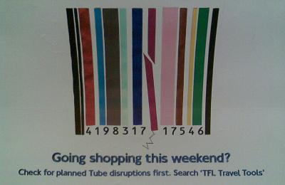 TFL shopping lines ad