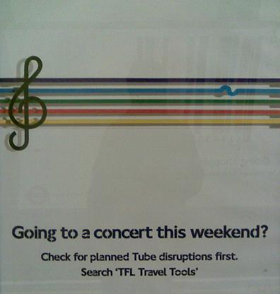 TFL concert lines ad
